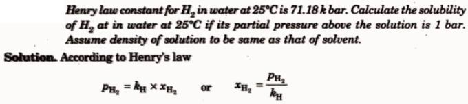 8 Henry's Law for H2 in water