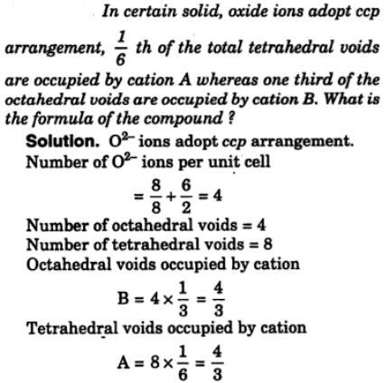 8 solid oxide ions adopt ccp arrangement