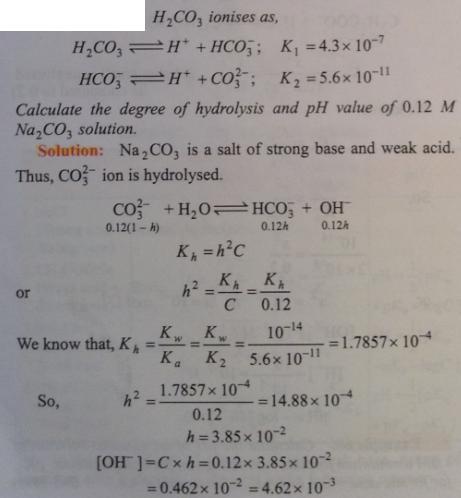 80 Ionic equilibrium dissociation constant