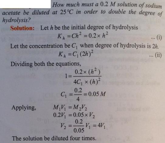 82 Ionic equilibrium dissociation constant