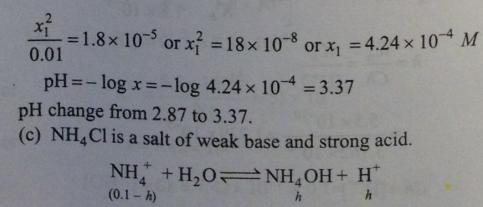 84 Ionic equilibrium dissociation constant