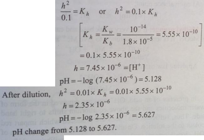 85 Ionic equilibrium dissociation constant