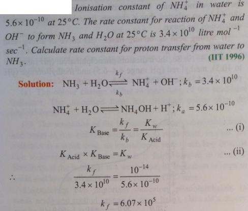 86 Ionic equilibrium dissociation constant