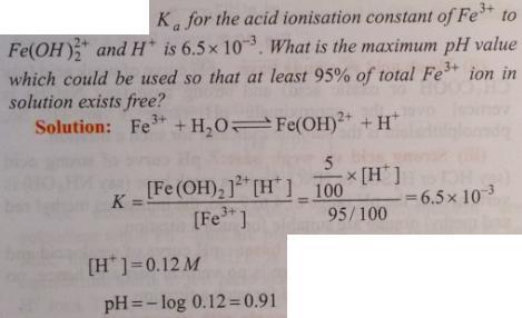 87 Ionic equilibrium dissociation constant