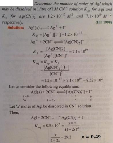 89 Ionic equilibrium dissociation constant