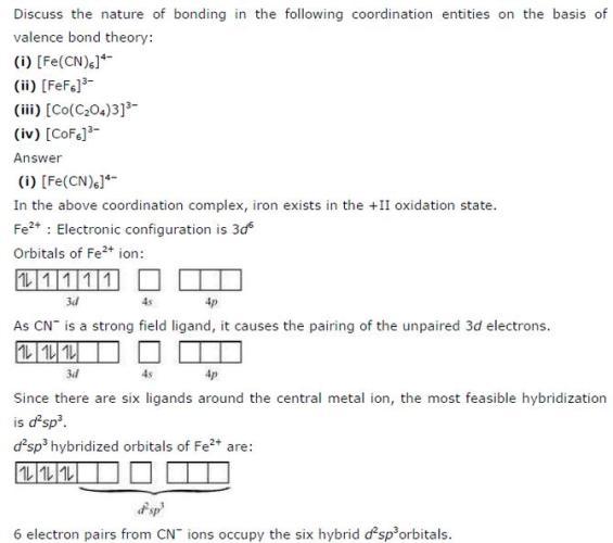 9.15 1 Co-ordination compound Std 12 CBSE