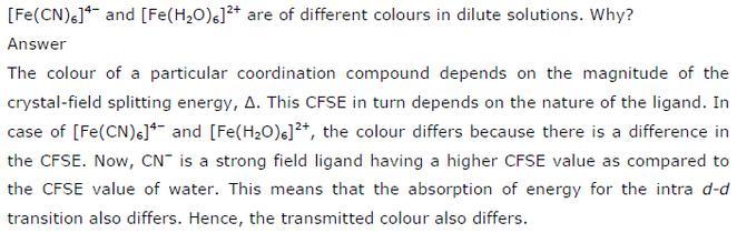 9.21 Co-ordination compound Std 12 CBSE