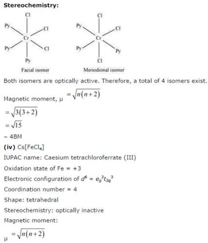 9.24 4 Co-ordination compounds std 12 CBSE textbook