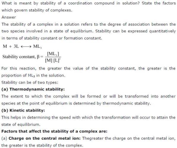9.25 1 Co-ordination compounds std 12 CBSE textbook