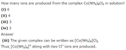 9.28 Co-ordination compounds std 12 CBSE textbook