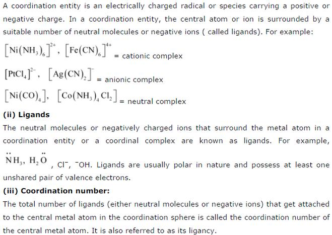 9.3-1Co-oridnation compound Std 12 CBSE