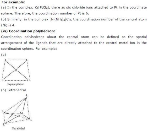 9.3-2 Co-oridnation compound Std 12 CBSE