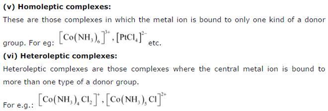 9.3-3 Co-ordination compound Std 12 CBSE