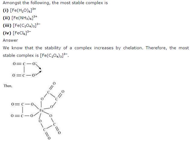 9.31 Co-ordination compounds std 12 CBSE textbook