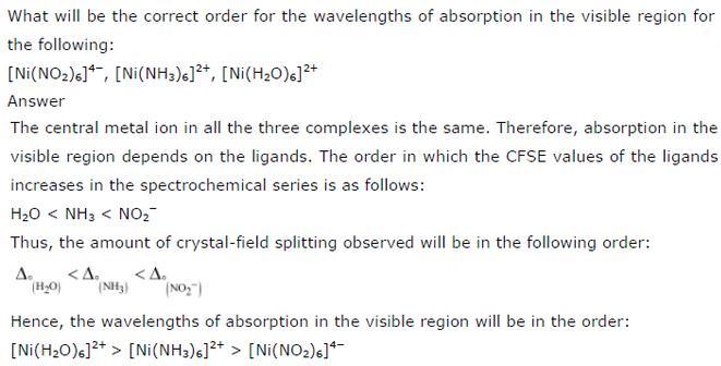 9.32 Co-ordination compounds std 12 CBSE textbook