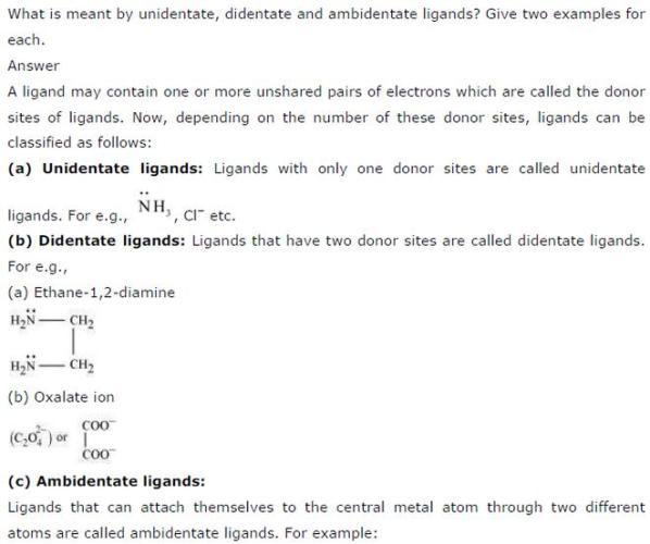 9.4 1 Co-ordination compound Std 12 CBSE