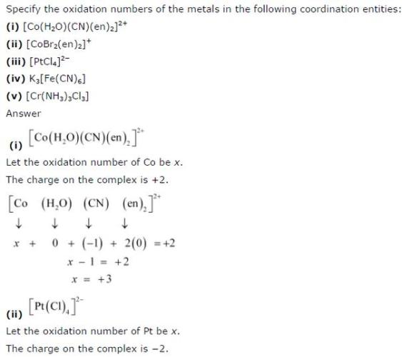 9.5 1 Co-ordination compound Std 12 CBSE