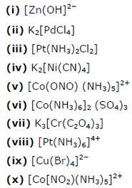9.6 2 Co-ordination compound Std 12 CBSE