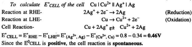 9 Ecell of Cu Ag cell