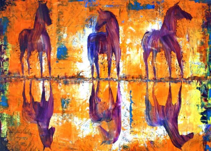 9 Image of 3 horses