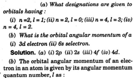 9 what designations are given to orbitals