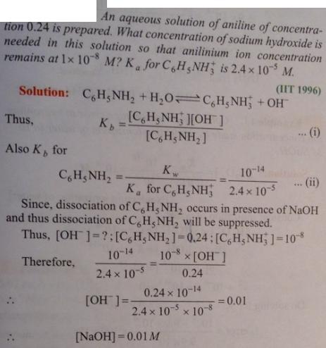 92 Ionic equilibrium dissociation constant