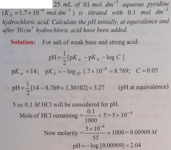 99 Ionic equilibrium dissociation constant