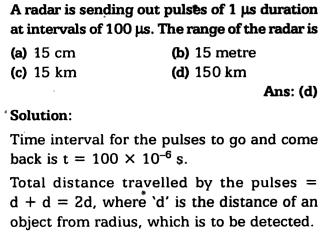 9a A radar is sending out pulse of 1 micro second