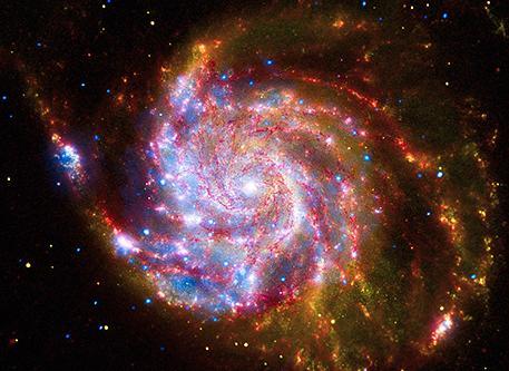 9a red yellow orange spiral galaxy
