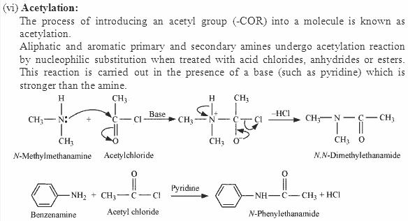 Acetylation Chapter 13 Nitrogen in Organic Chem