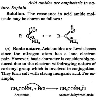 acid amides are amphoteric in nature 1