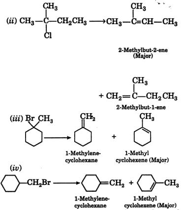Alkenes formed by dehydrohalogenation 2