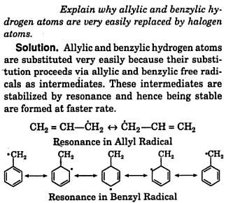 allylic benzylic hydrogen atoms are very easily replaced