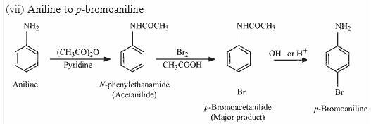 Aniline to p-Bromoaniline