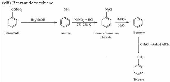 Benzamide to toluene