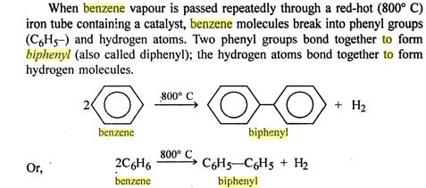 Benzene to biphenyl-1