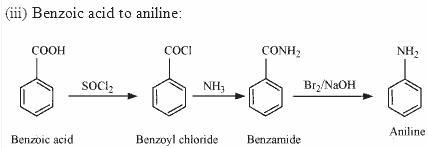 Benzoic acid to aniline