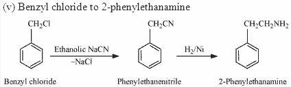 Benzyl chloride to 2-phenylethanamine