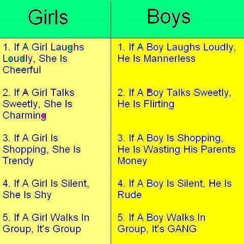 Boy vs girls
