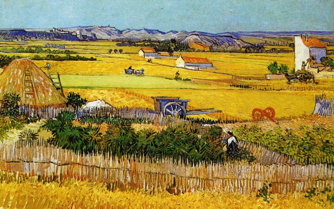 Brown yellow countryside vincent Van Gogh