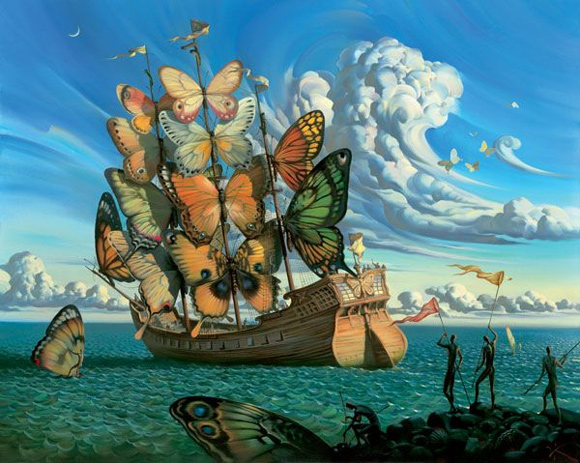 Butterfly sail salvador Dali