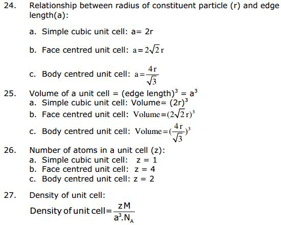 CBSE Solid State 14 Chapter 1 Concepts
