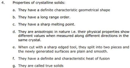 CBSE Solid State 2 Chapter 1 Concepts