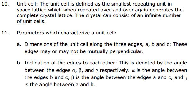 CBSE Solid State 6 Chapter 1 Concepts
