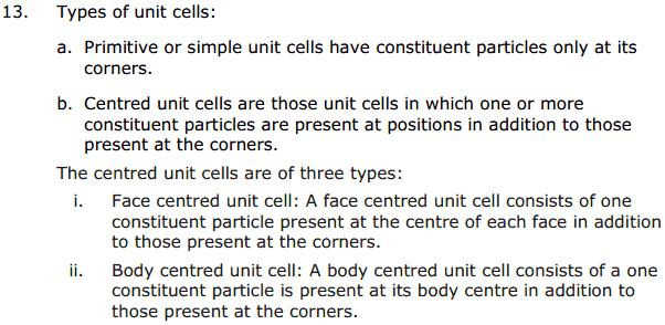 CBSE Solid State 8 Chapter 1 Concepts
