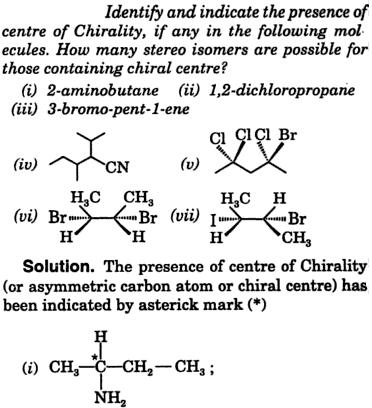 center of chirality streo isomers 1