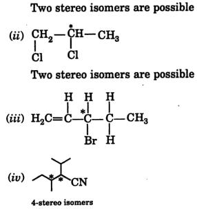 center of chirality streo isomers 2