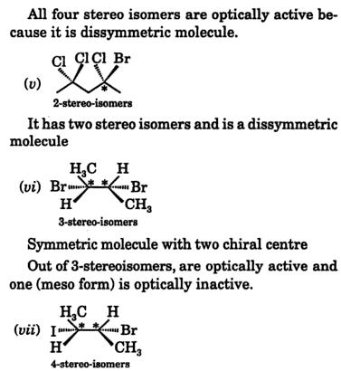 center of chirality streo isomers 3