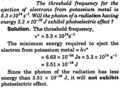check if the potassium sample will emit photoelectrons