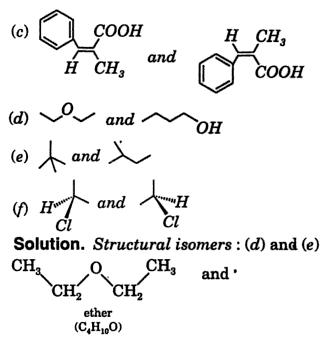 classify following pairs as structural, geometrical isomers 2